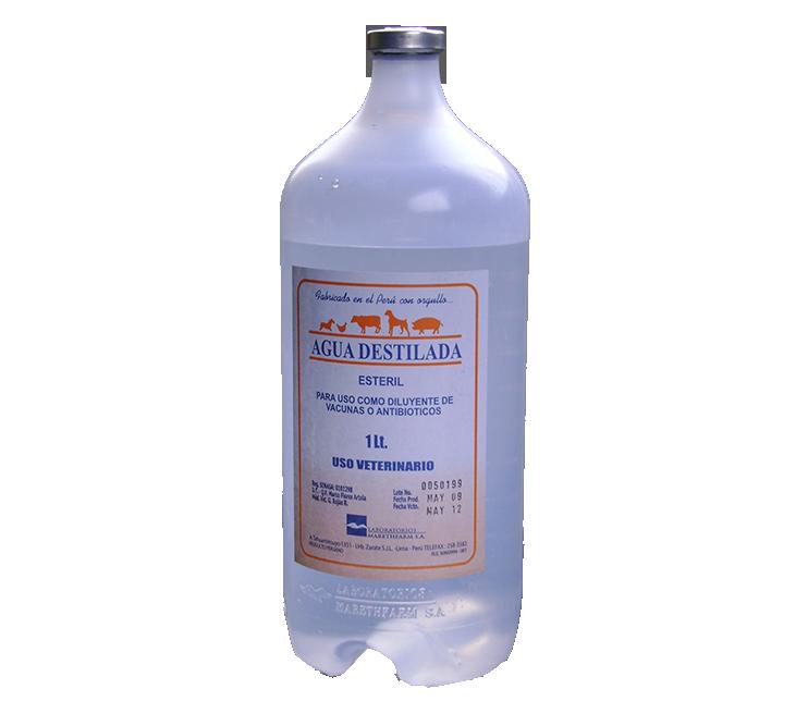 agua esteril o destilada